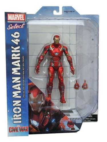 Iron Man Mark 46 ( Homem de Ferro ) - Captain America Civil War ( Capitão América Guerra Civil ) - Marvel Select - Diamond Select Toys