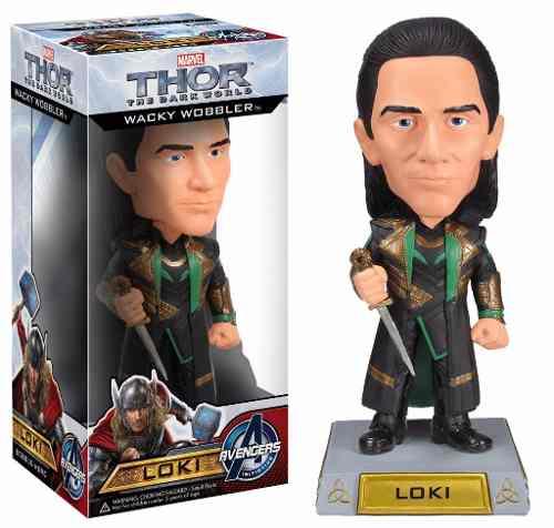 Loki - Thor The Dark World ( Mundo Sombrio ) - Funko Wacky Wobbler