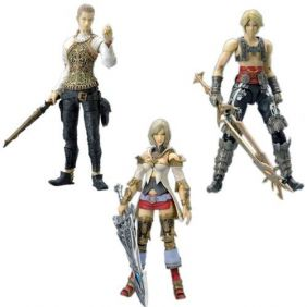 Ashe, Vaan e Balthier - Final Fantasy 12 - Play Arts - Square Enix