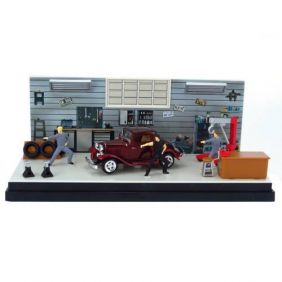 1932 Ford Coupe - Dream Car - Diorama 1:43 - Motormax