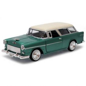 1955 Chevrolet Bel Air Nomad - Escala 1:24 - Motormax
