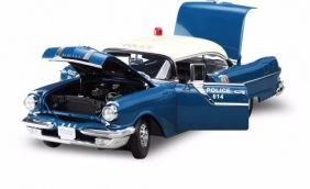 1955 Pontiac Star Chief Police Car - Escala 1:18 - Sun Star