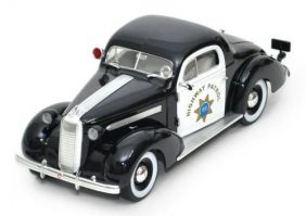1936 Pontiac Deluxe Highway Patrol - Escala 1:18 - Signature Models
