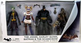 The Joker, Harley Quinn, Batman and The Scarecrow ( Coringa, Arlequina e Espantalho ) - Batman: Arkham Asylum - DC Collectibles