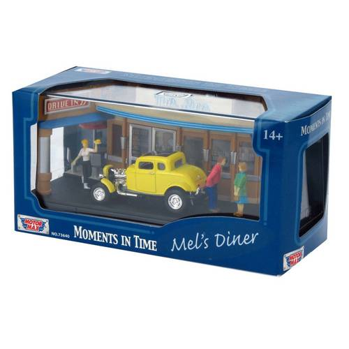 1932 Ford Coupe - Mel's Diner - Diorama 1:64 - Motormax