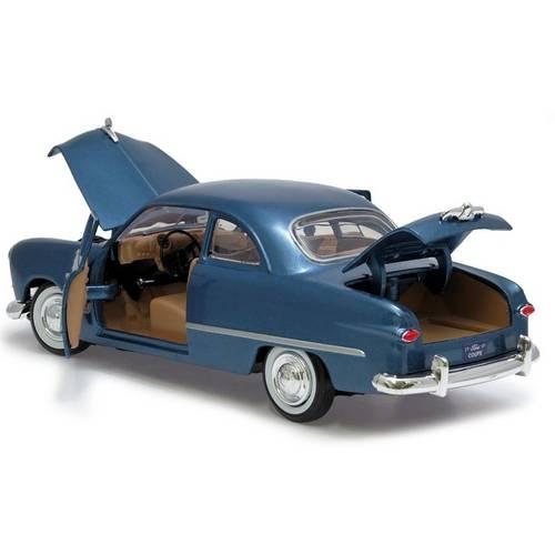 1949 Ford Coupe Azul - Escala 1:24 - Motormax