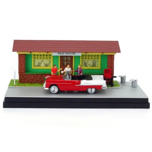 1955 Chevrolet Bel Air - Frat House - Diorama 1:43 Motormax