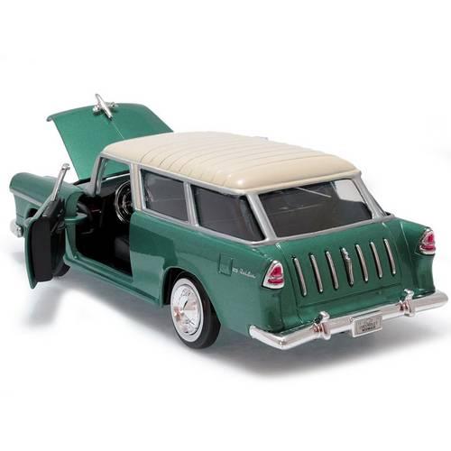 1955 Chevrolet Bel Air Nomad - Escala 1:24 - Motormax