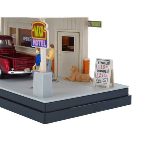1955 Chevrolet Stepside Pickup - A Little R & R - Diorama 1:43 - Motormax