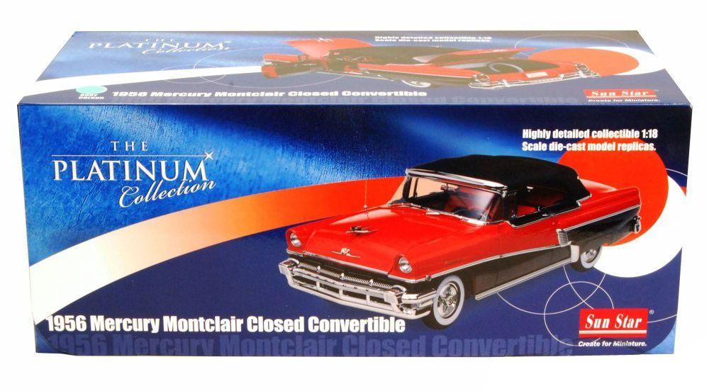 1956 Mercury Montclair Closed Convertible - Escala 1:18 - Sun Star
