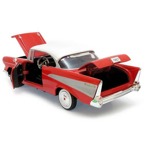1957 Chevrolet Bel Air - Escala 1:24 - Motormax