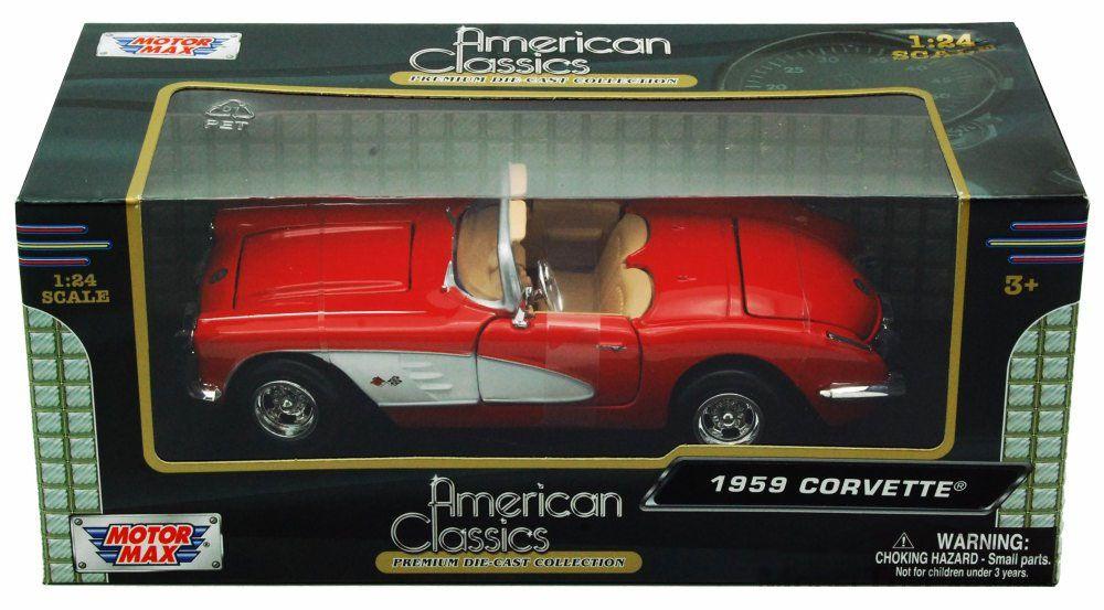 1959 Chevrolet Corvette - Escala 1:24 - Motormax