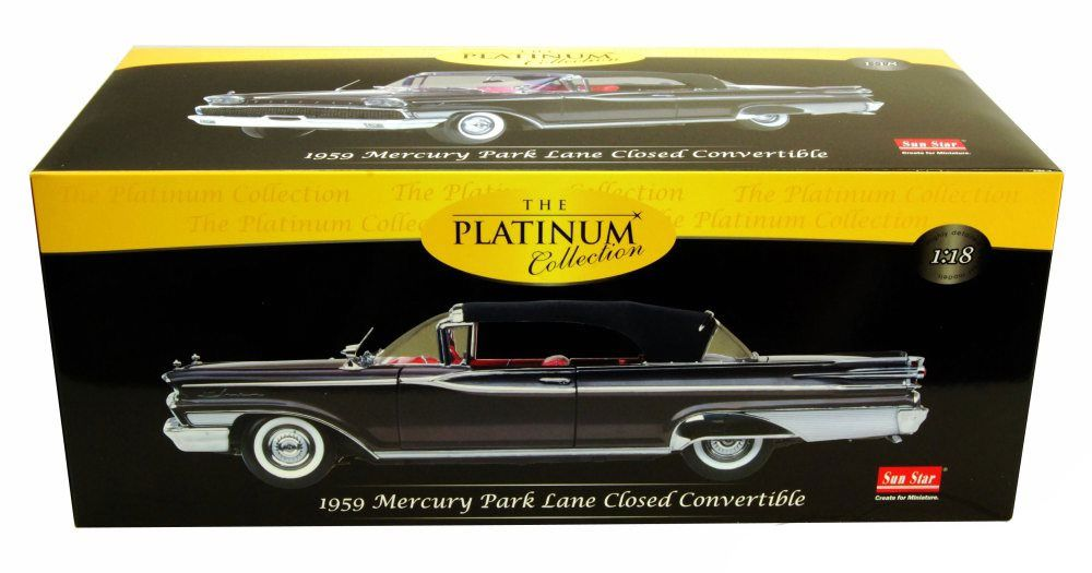 1959 Mercury Park Lane Closed Convertible - Escala 1:18 - Sun Star