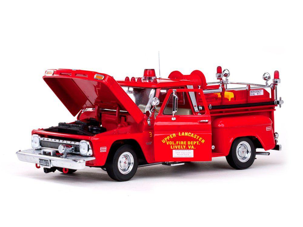 1965 Chevrolet C-20 Fire Truck - Escala1:18 - Sun Star