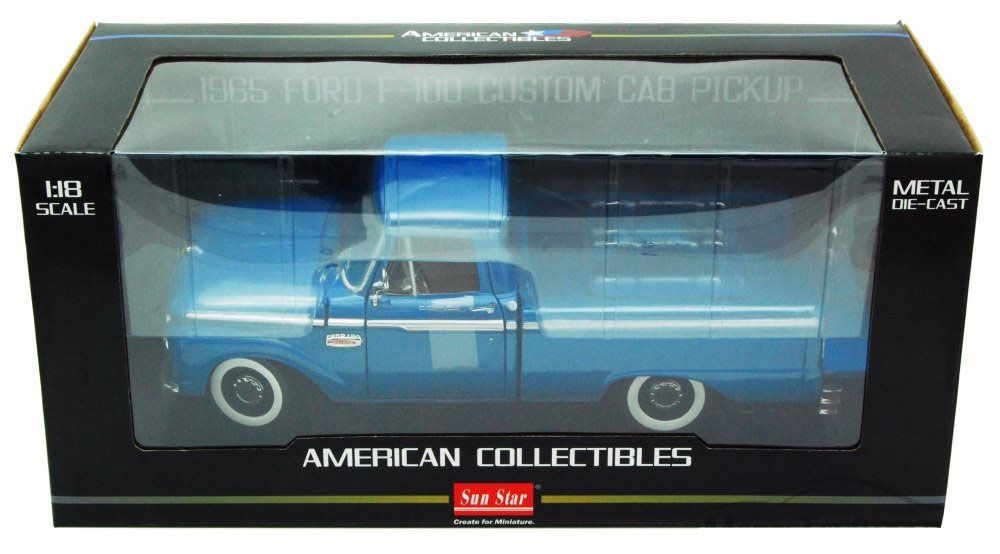 1965 Ford F-100 Custom Cab Pickup - Escala 1:18 - Sun Star