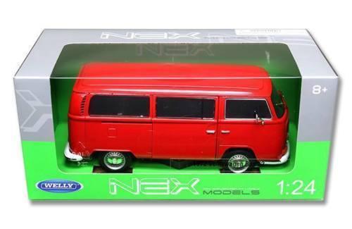 1972 Volkwagen Bus T2 Kombi - Escala 1:24 - Welly