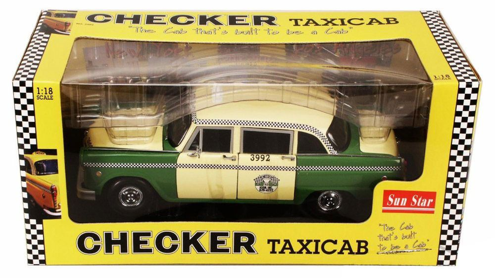 1981 Checker A11 Chicago Cab Taxi - Escala 1:18 - Sun Star
