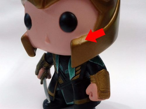 Loki #36 - Funko Pop! Marvel - Pequeno detalhe no capacete