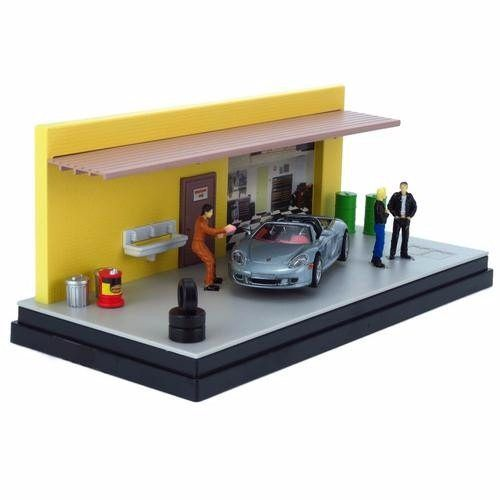 Porsche Carrera GT - Mechanic's Class - Diorama 1:43 - Motormax