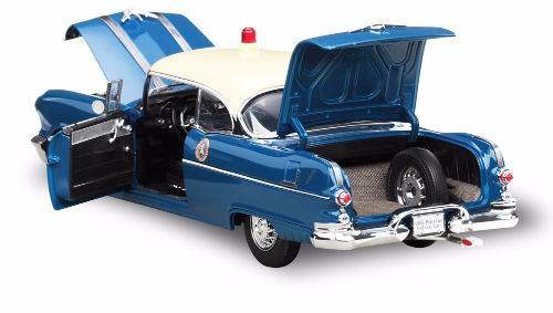 1955 Pontiac Star Chief Police Car - Escala 1:18 - Sun Star