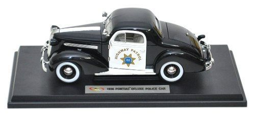 1936 Pontiac Deluxe Highway Patrol - Escala 1:18 - Signature Models