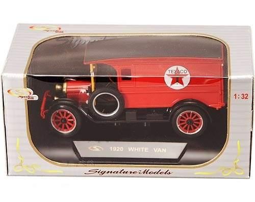 1920 Ford White Van Texaco - Escala 1:32 - Signature Models