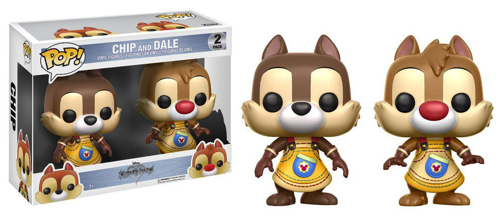 Chip & Dale #265 #277 ( Tico e Teco ) - Kingdom Hearts - Funko Pop!