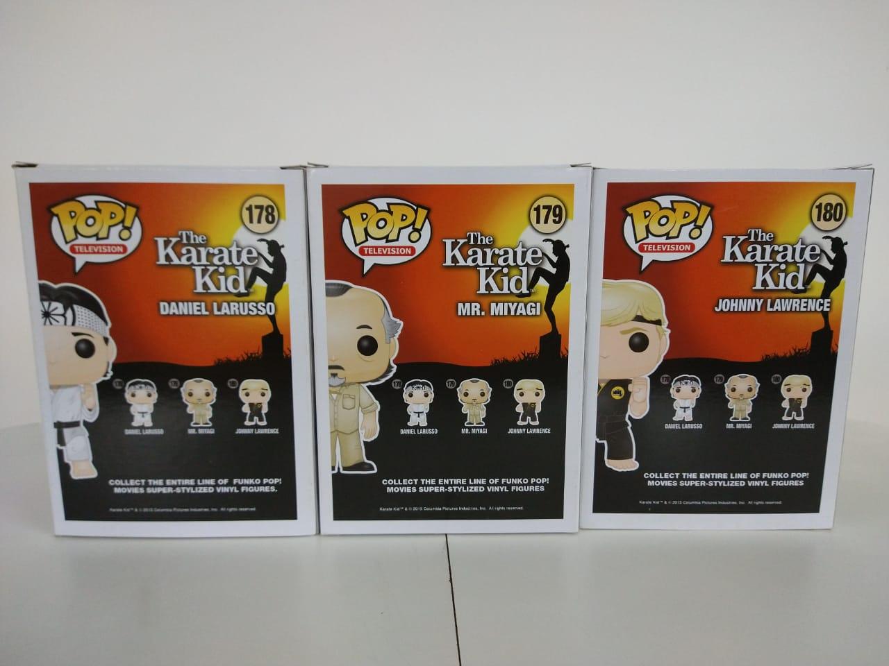 Daniel Larusso, Mr. Miyagi e Johnny Lawrence - The Karate Kid - Funko Pop! Movies