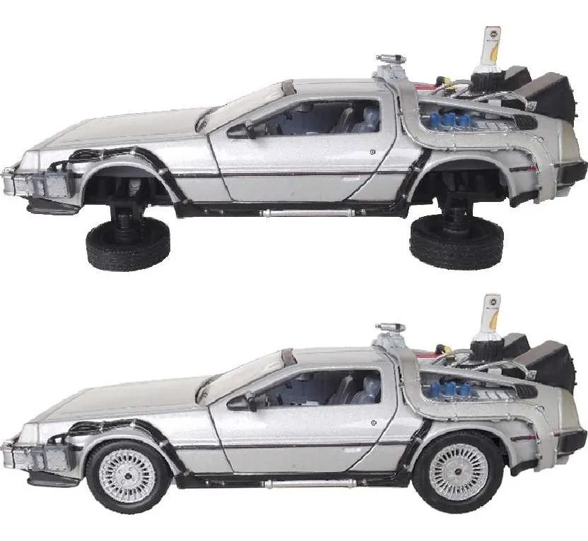 DeLorean Time Machine Fly Mode - Back To The Future II - Escala 1:24 - Welly