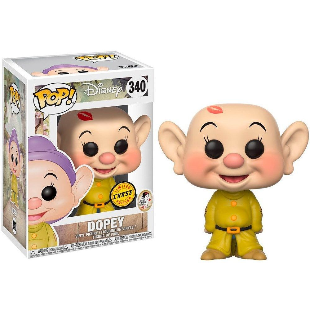 Dopey #340 ( Dunga ) - Snow White ( Branca de Neve ) - Funko Pop! Disney Chase Limited Edition