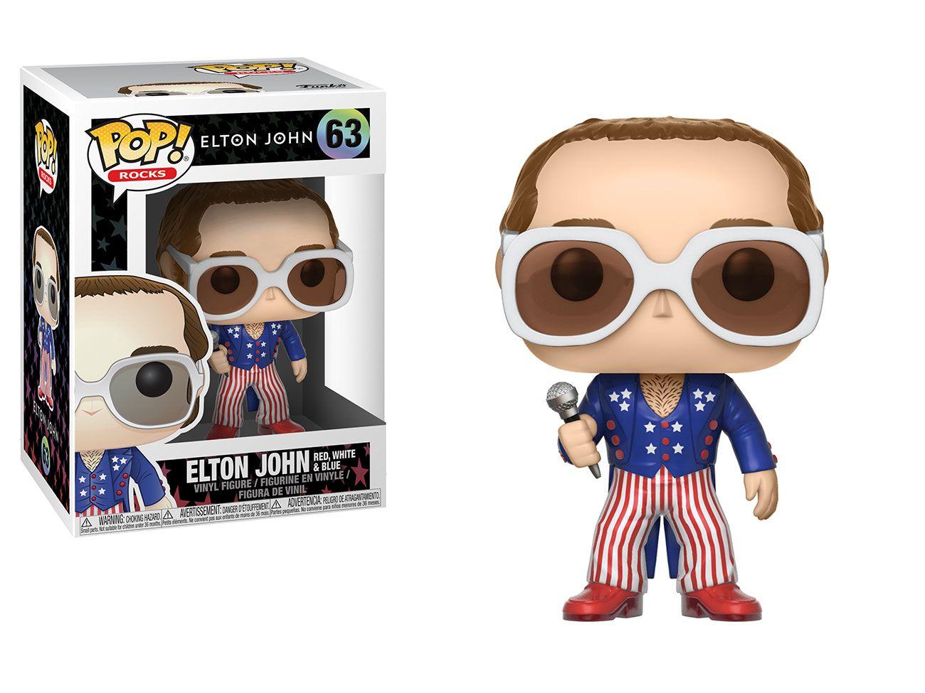 Elton John Red, White & Blue #63 - Funko Pop! Rock