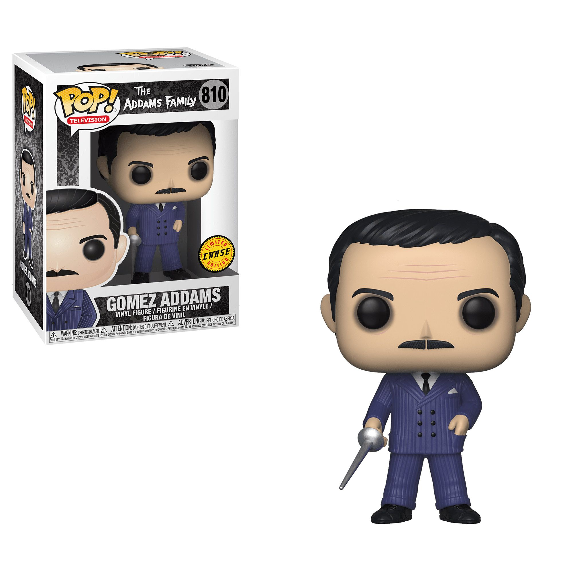 Gomez #810 - The Addams Family (A Família Addams) - Funko Pop! Television Chase Limited Edition