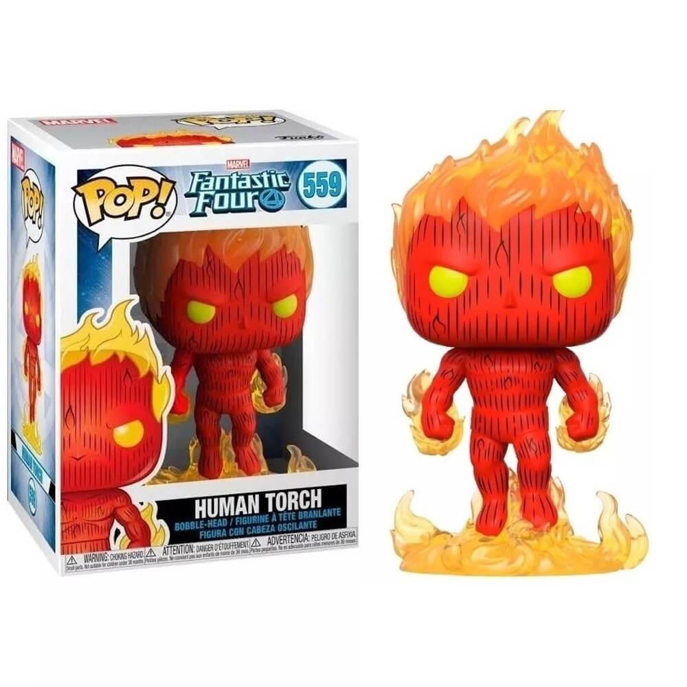 Human Torch #559 (Tocha Humana) - Fantastic Four (Quarteto Fantástico) - Funko Pop! Marvel