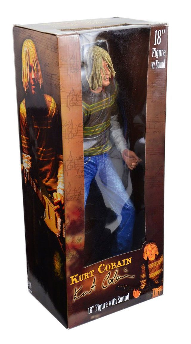 "Kurt Cobain 18"" with sound - Nirvana - NECA"