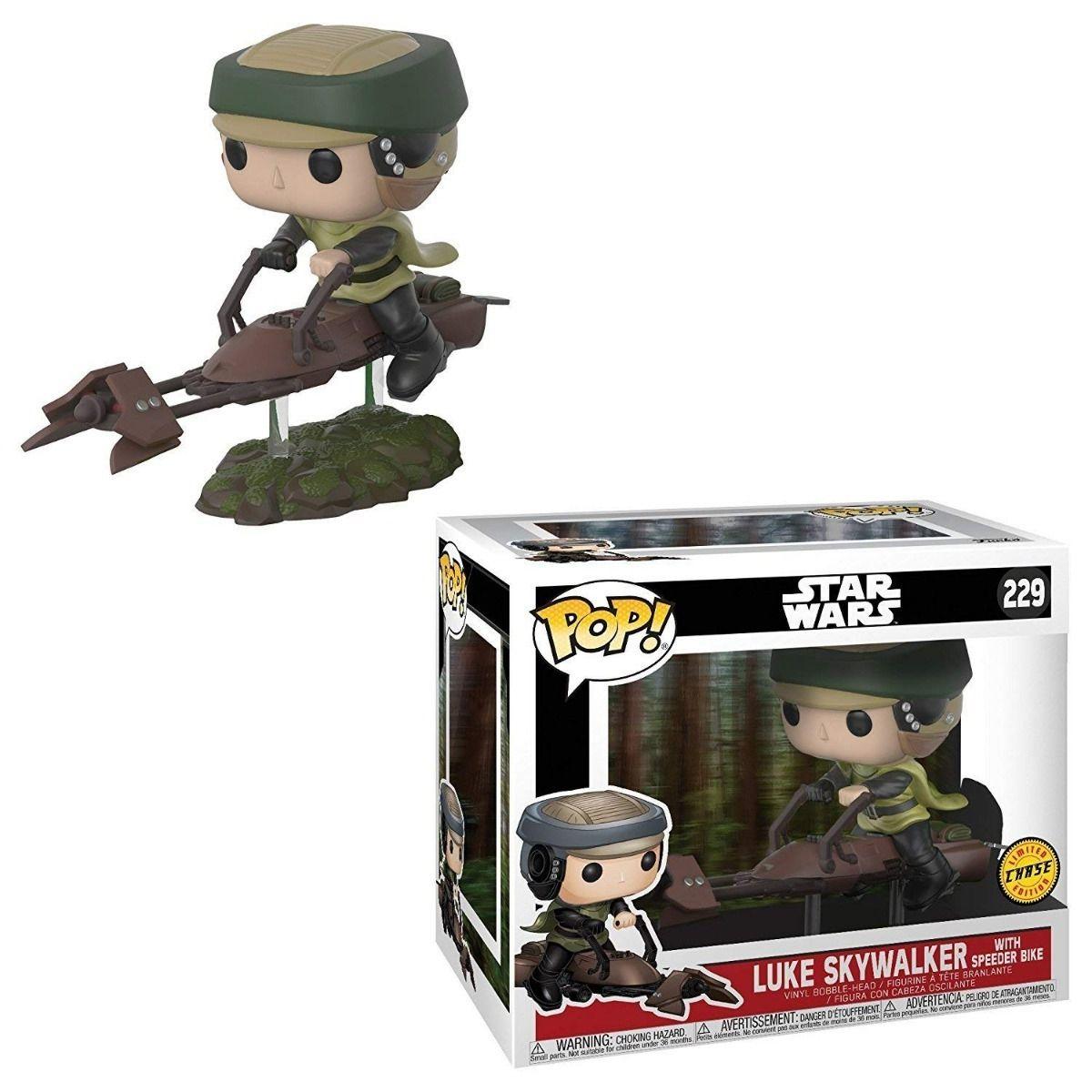 Luke Skywalker with Speeder Bike #229 - Star Wars - Funko Pop! Chase Limited Edition