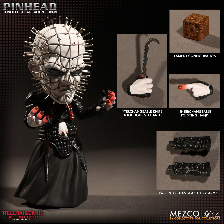 Pinhead Stylized Figure - Hellraiser III Hell on Earth - Stylized Figure - Mezco Toyz