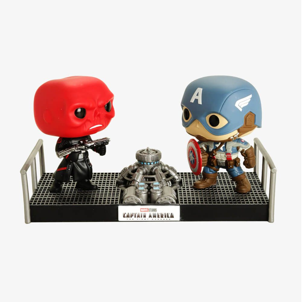 Red Skull VS. Captain America #389 ( Caveira Vermelha VS Capitão América ) - Funko Pop! Marvel Movie Moments