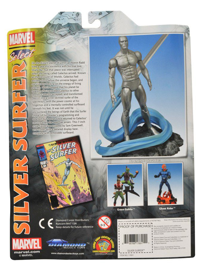 Silver Surfer ( Surfista Prateado ) - Marvel Select - Diamond Select Toys