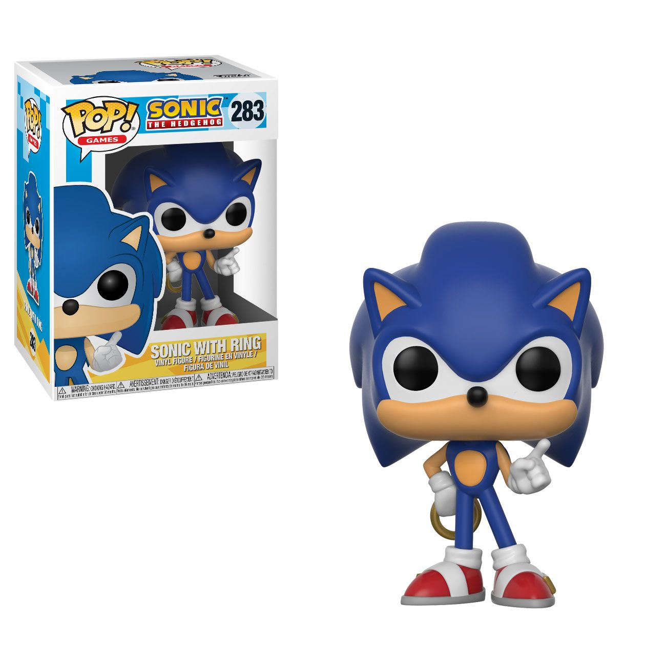 Sonic with Ring #283 - Funko Pop! Games