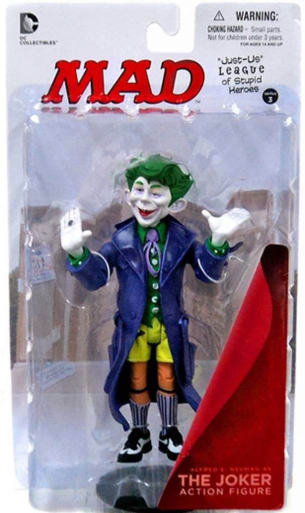 The Joker ( Coringa ) - Just-Us League of Stupid Heroes Series 3 - MAD - DC Collectibles