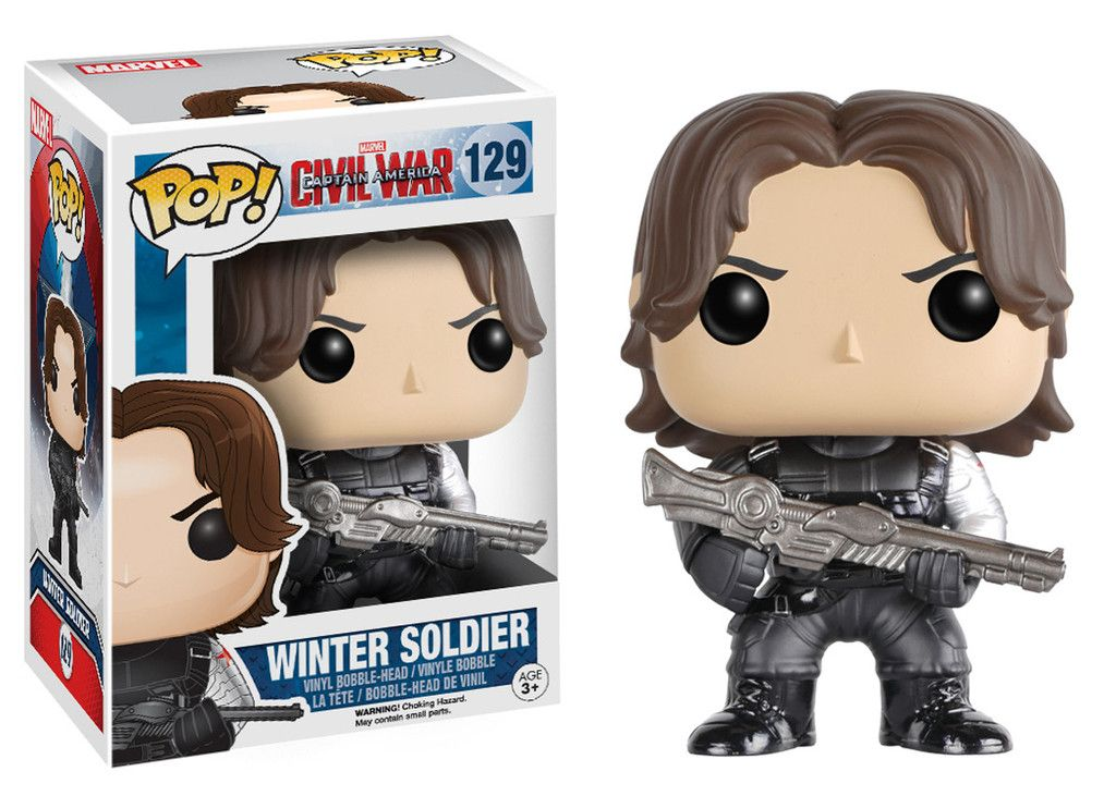 Winter Soldier #129 ( Soldado Invernal ) - Captain America Civil War ( Capitão América Guerra Civil ) - Funko Pop! Marvel