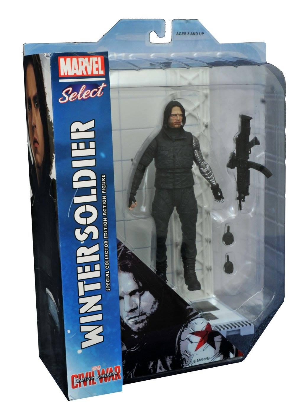 Winter Soldier ( Soldado Invernal ) - Captain America Civil War ( Capitão América Guerra Civil ) - Marvel Select - Diamond Select Toys