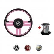 Volante Modelo Rallye rosa Volkswagen Chevrolet Fiat