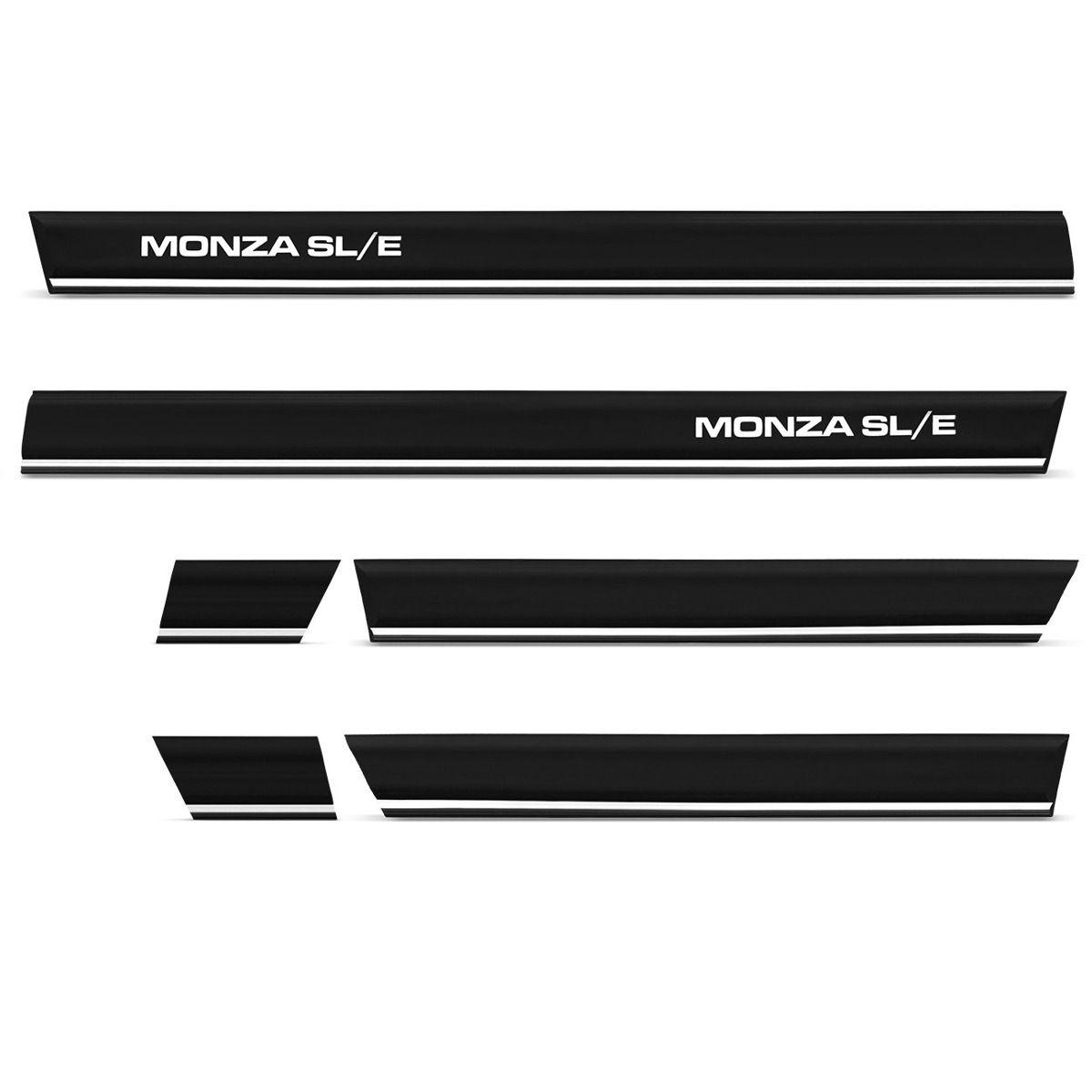 Kit Friso Borrachao Lateral Monza 4portas Sle 91 92 93 94 96