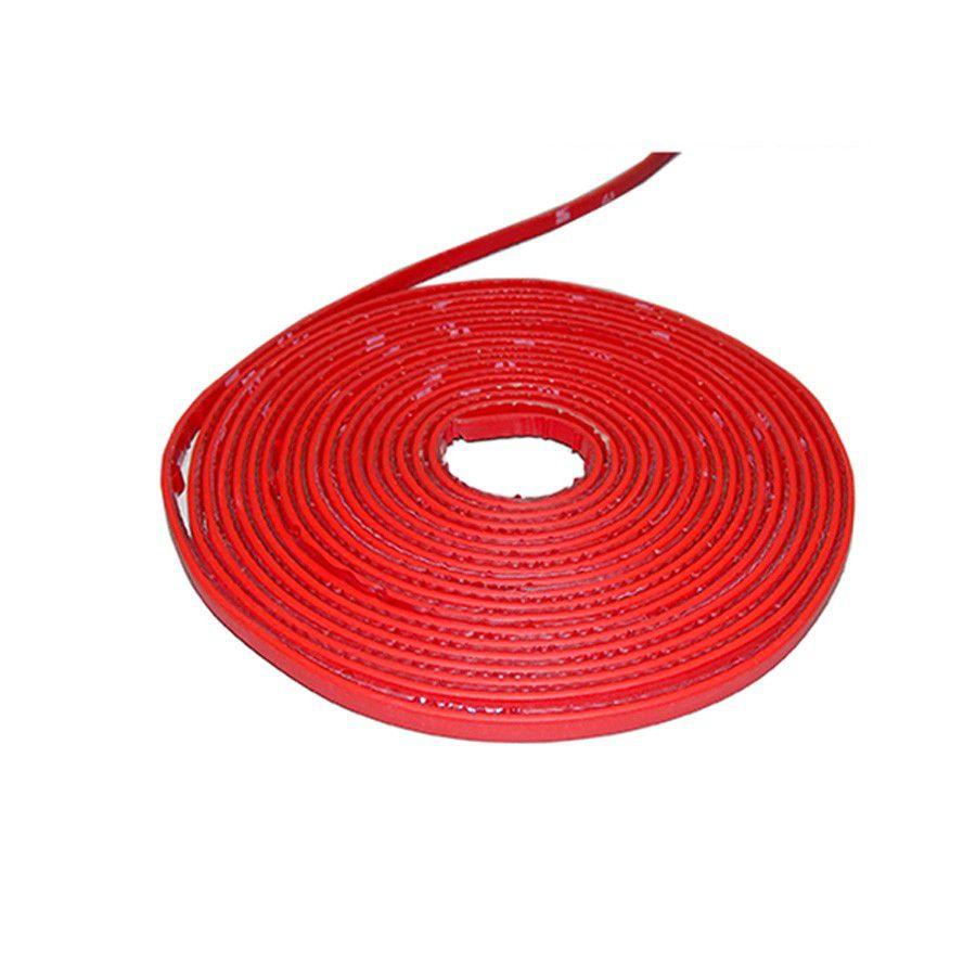Friso Filete Vermelho Colar Parachoque Gol G1 Kit 10 Metros