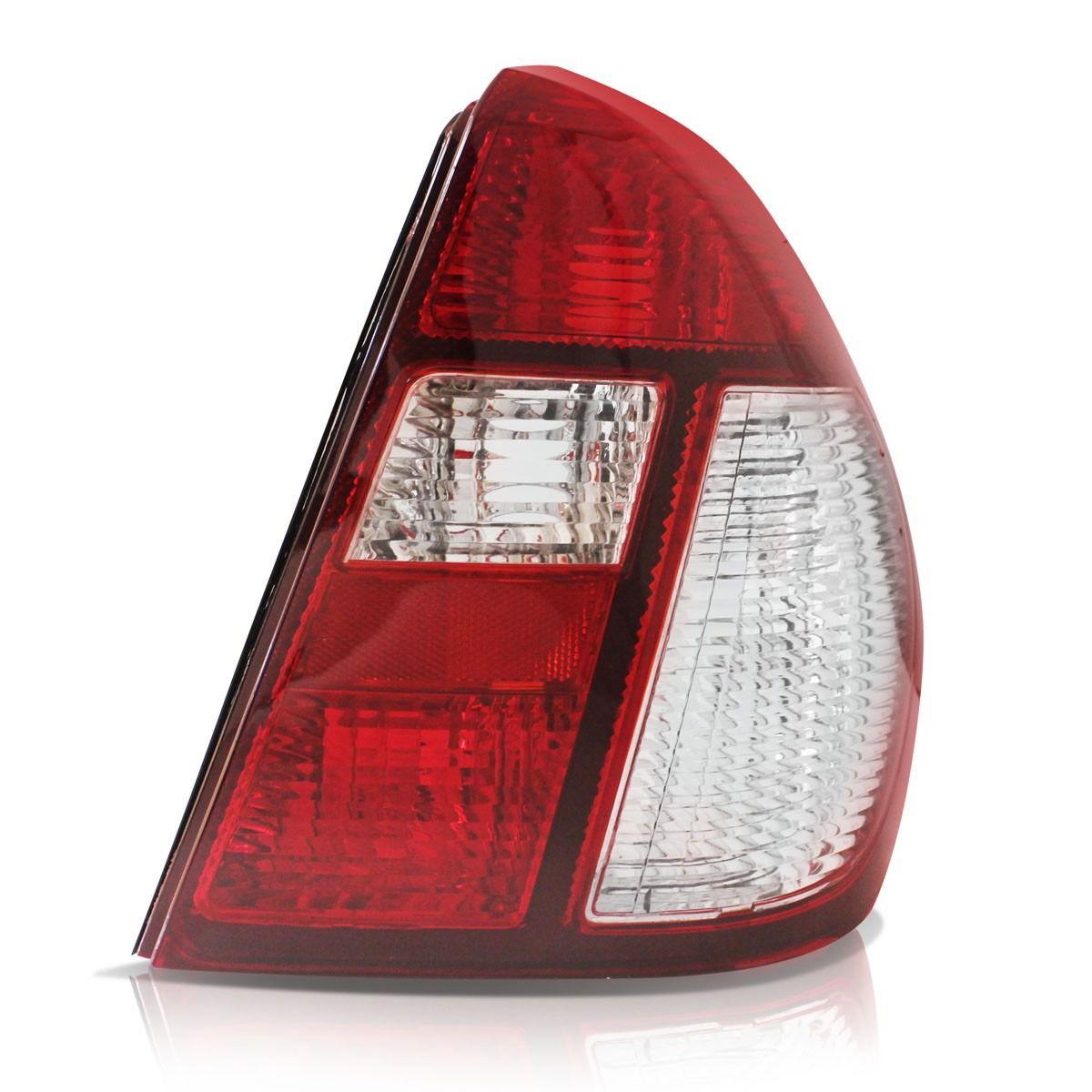 Lanterna Traseira Clio Sedan 03 04 05 06 07 08 09 10 Bicolor