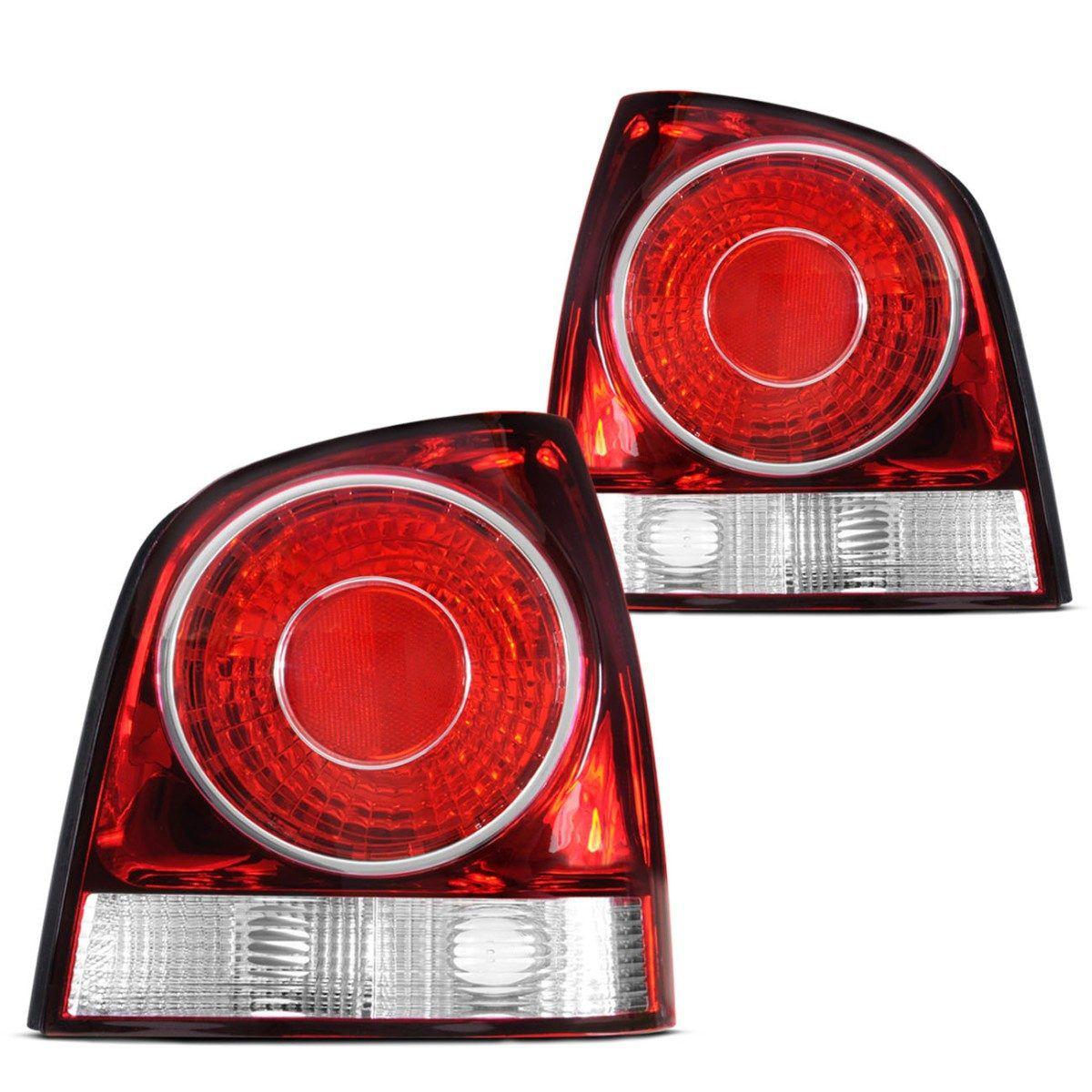 Par Lanterna Traseira Polo Hatch 07 08 09 Serve 02 03 04 05 06