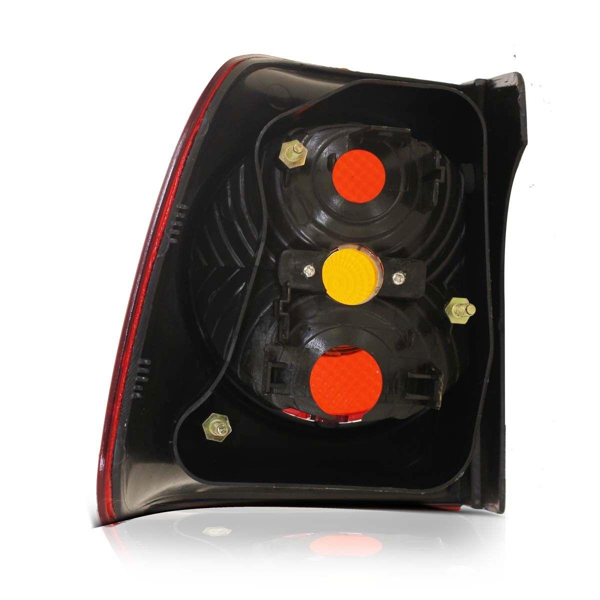Lanterna Traseira Polo Sedan 07 08 09 10 11 Canto Rubi