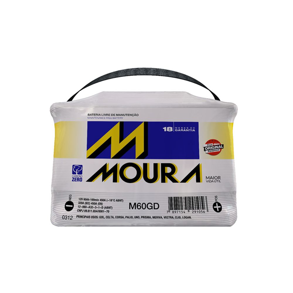 Bateria Moura 60Amp 18 Meses Garantia