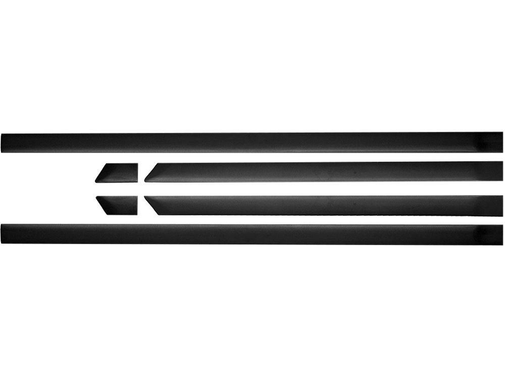 kit friso borrachao preto gol G4 largo serve G2 G3 2 portas s/friso cromado